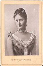 CAB photo Prinzessin Aglae Auersperg - um 1890