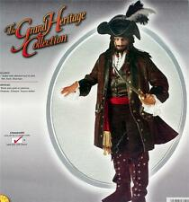 CAPTAIN JACK SPARROW Caribbean Pirate Buccaneer MENS COSTUME SET 44 One Size New