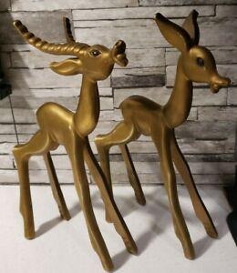 Vintage Breyer Gold Deer Reindeer Golden Buck Doe MCM 1961 #101 #102 Don Manning