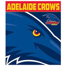 Adelaide Crows AFL Footy Polar Fleece Throw Rug Blanket 150cm X 130cm