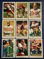 1995 Topps WASHINGTON REDSKINS Complete Team Set 17 w Inserts MINT