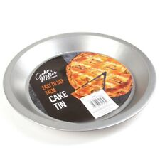 NON-STICK FLAN DISH Pastry Cake Quiche Tart Sponge Baking Oven Tin Dish Pan 24cm