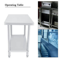 Work Bench Table Platform Operating Work Station Stainless Steel Kitchen Desk x1