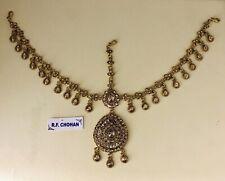 Antique gold headpiece matha patti tikka hijab bridal hair chain boho prom