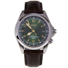 Seiko Diashock Automatic 23 Jewels Green Dial Men Leather Watch SARB017J SARB017