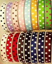 2 yards 15 colors of 7/8 inch polka or swiss dots, 30 yds total