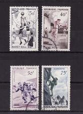 timbre France   sport  série de 1956   num: 1072/75  oblitéré
