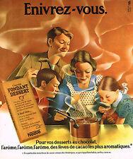 PUBLICITE ADVERTISING 064  1975  NESTLE   chocolant fondant dessert