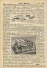 1882 Melograph M. Carpentier Harmonium Music Notation Antique Machine Illustrate