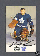 Johnny Bower signed Toronto Maple Leafs 1988 Esso card