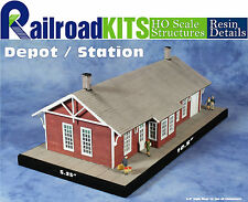 Depot / Station an HO Scale Craftsman Structure from Railroad Kits - Fun & Easy