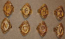 100 Ladies' Vintage 1980's USA Made 18KT. Gold Overlay Diamond Cut Initial Rings
