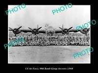 OLD POSTCARD SIZE PHOTO OF US AIR FORCE 90th BOMB GROUP JOLLY ROGERS c1940