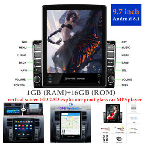 "9.7""Android 8.1 1G+16G Car GPS Navigation Multimedia Radio Full Touch Screen HD"