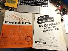 New listing 5 1950's Vintage Tv Antenna Jobber Catalogs & Information Sheets As Shown