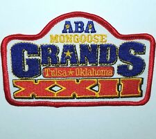 MONGOOSE BMX NATIONALS XXII RACING PATCH BIKE ABA Nos VINTAGE BICYCLE sticker Og