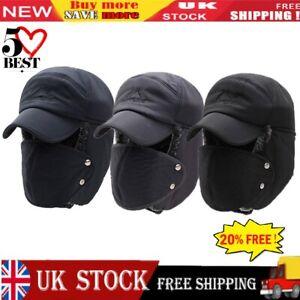Men Women Winter Warm Hat Ear Flap Trapper Bomber Aviator Trooper Ski Hot UK