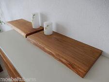 2x Wandboard Eiche Wild Massiv Holz Board Regal Steckboard Regalbrett Baumkante