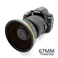 67MM HD Wide Angle Macro Lens Adapter for NIKON Nikkor DSLR Camera