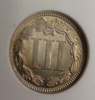 1868 US 3 Cent Nickel CN3C Coin Proof PF-66 Cameo Beautiful Gem Specimen