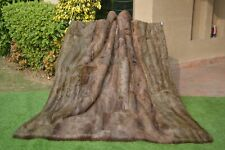 "Genuine QUEEN Blanket Real Natural Nutria Beaver Fur Throw 82""X72"" rug coat 3418"