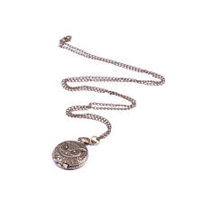 Portable Bronzy Owl Design Necklace Pocket Watch
