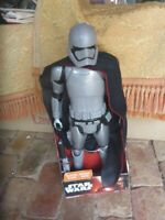 Star Wars collectable CAPTAIN PHASMA FIGURE WITH BLASTER  in box 50cm tall