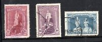 Australia 1937-49 Robes fine used set SG176-178 WS18407