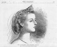 1872 Antique PORTRAIT Print - Countess Charlotte Spencer  (31)