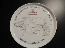 CUNARD QE2 DISTANT EMPIRES VOYAGE ROSENTHAL china plate dish cruise line 1996