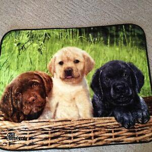 Northwest Throw Blanket Labrador Puppies Black Golden Greg Cuddiford 60 x47