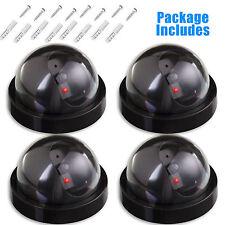 4x Flash LED Wireless Dummy Dome Fake Camera Home CCTV Surveillance Security AU