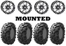 Kit 4 Kenda Bearclaw K299 Tires 26x9-12/26x11-12 on STI HD3 Machined Wheels SRA