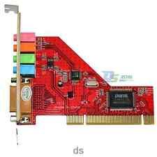 PCI Sound Card 4 Channel Audio Stereo Game Port MIDI Adapter Win 7 XP 32bit PC