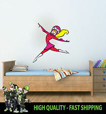 PRINTED WALL ART PENELOPE PITSTOP WACKY RACES GRAPHIC STICKER KIDS BED ROOM