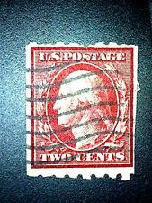 US 391  Two Cent Washington Carmine  P 8 1/2 H  WM 190 LC  Used ScCV $ 50
