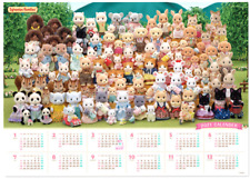 Sylvanian Families 35th Anniversary MAYOR VOTE CALENDAR Calico Critters Epoch