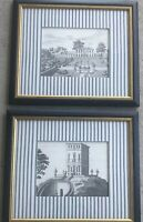 Pen And Ink Style European Garden And Architecture Drawings Volckamer