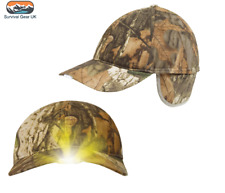 JACK PYKE CAMO WILDFOWLERS CAP x5 BUILT IN LED LIGHTS FLEECE LINED HAT HUNTING