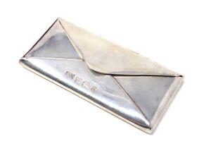 A Huge Heavy Vintage Solid Silver 925 C1991 PGK Designer Envelope Stamp Holder