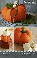 PUMPKIN TRIO SEWING PATTERN, From Indygo Junction NEW