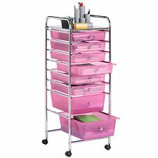 76cadc0eff4 VonHaus Plastic Rolling Organizer Cart with 8 Drawer and Wheels for Home  Office