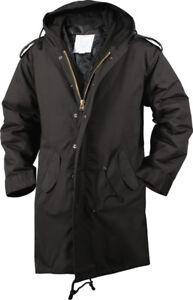 Black Military Cold Weather M-51 Fishtail Parka Jacket