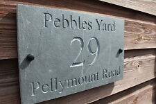 Natural Slate Deep Engraved House Door Sign Plaque 30cm x 18cm Any Font