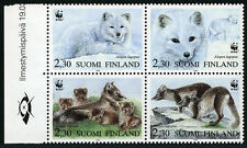 Finland 907 Bl/4, MNH. World Wildlife Fund, WWF.Alopex Lagopus (Arctic fox),1993