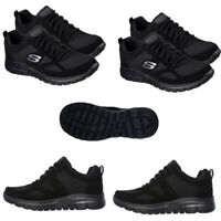 Skechers Mens Trainers Burns Agoura Running Walking Casual Shoes Black Size
