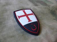 JTG  Crusader Shield Patch, fullcolor / JTG 3D Rubber Patch