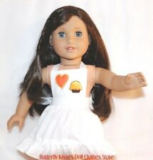 Cupcake Heart Apron 18 in Doll Clothes Fits American Girl #D