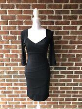 White House Black Market SIZE 6 Black Stretch NWT Cocktail Dress Slimming