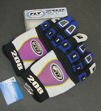 New NWT FLY 208 Motocross BMX Racing Gloves Sz Small Adult 8 Blue Black 36-3708